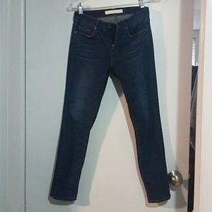 Jbrand capri length dark blue skinnies